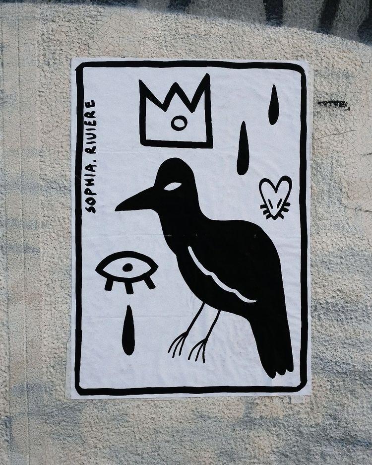 streetart, pasteup, illustration - sophiariviere | ello