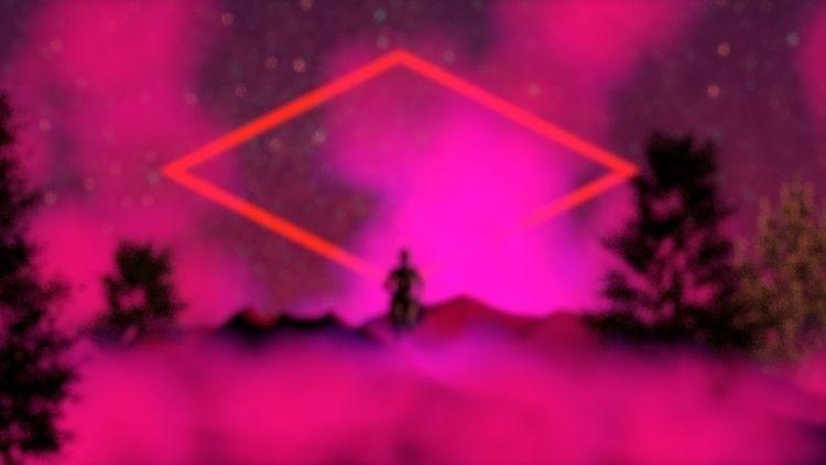 Running understand - netart#cyberart#cyberpunk#render#c4d#internetart#3dart#3d#aliens#pink#purple#creepy - bambi_kirschner | ello