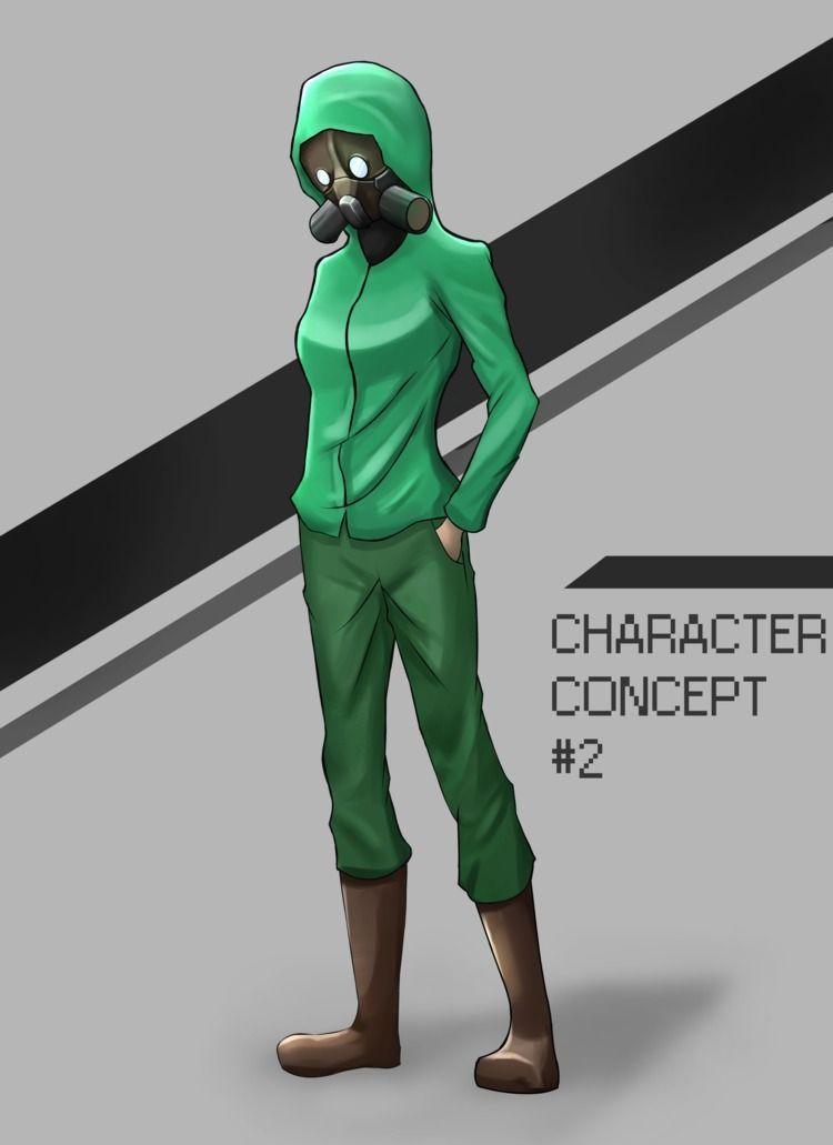 Game Character Concept Gasmask  - ruppossy   ello