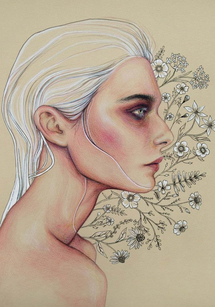 Breathe Colored pencils ink pas - anakurist | ello
