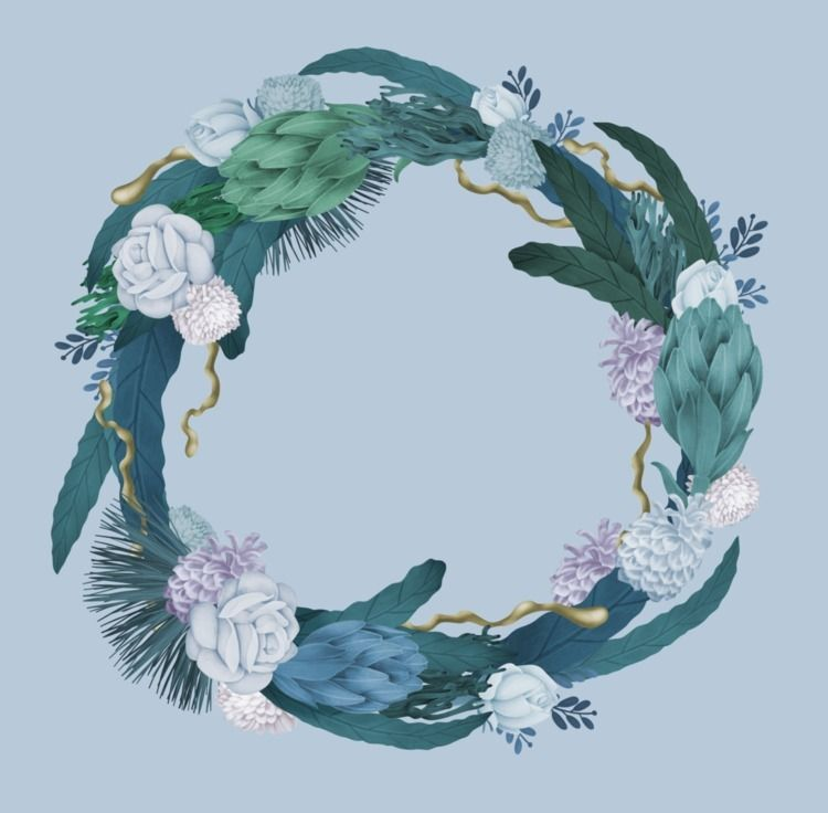 illustration, drawing, wreath - jutta-kivilompolo | ello