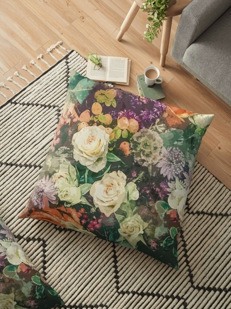 'Floral Bunch' Floor Pillow - creativeaxle - creativeaxle | ello