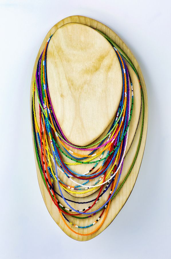 Long Bead Necklace Display (19 - dirkmarwig | ello
