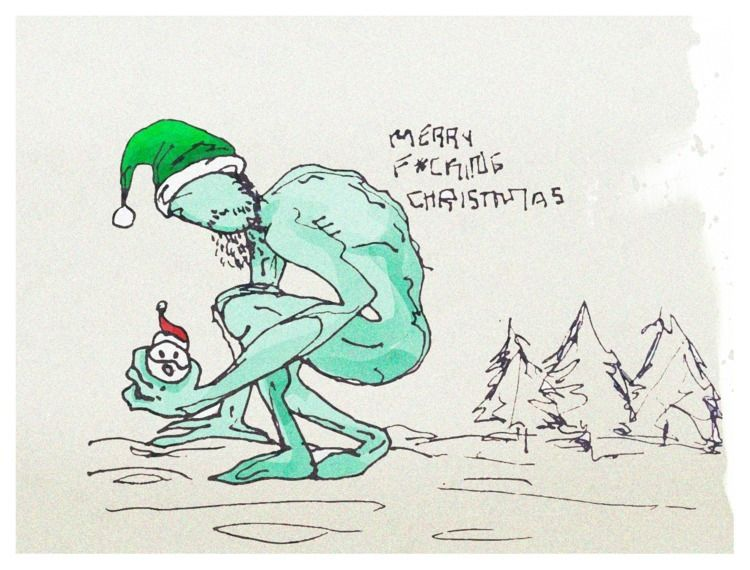 Grinch - quickdraw, christmas, draw - flavormaker | ello