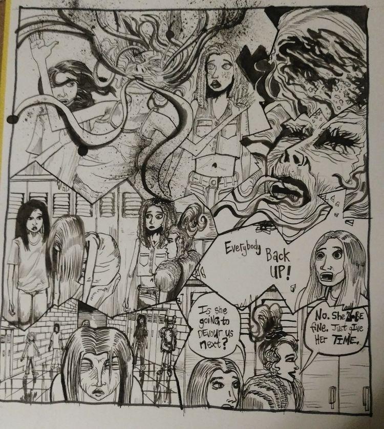Comic art horror graphic series - briandefferding | ello