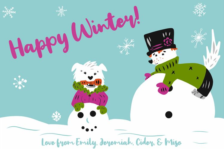 year opted Winter theme cards  - emilynettie | ello