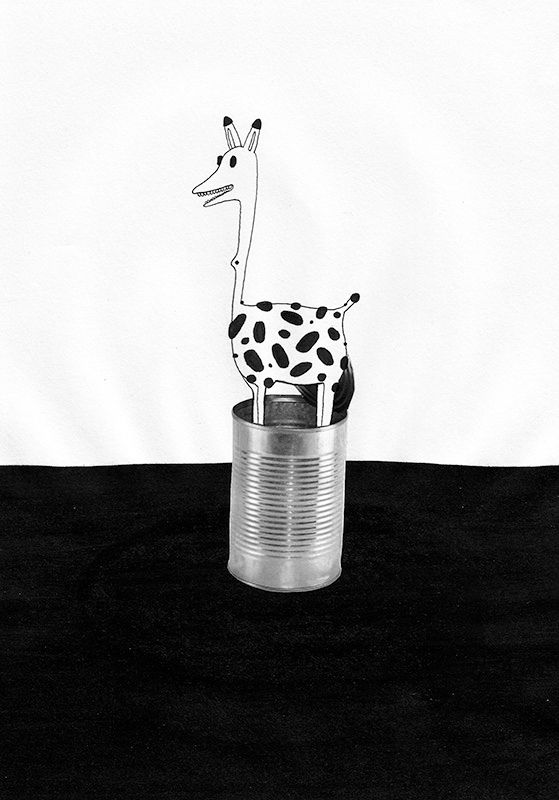 Canned giraffe - art, draw, art - maf_pasteris | ello