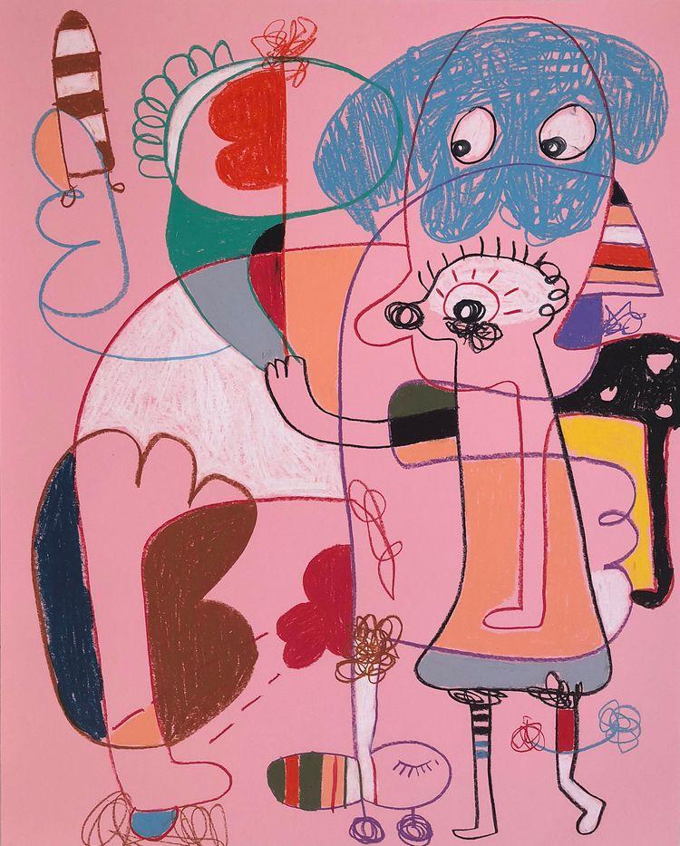 Home dog Wax crayon paper - joimurugavell | ello