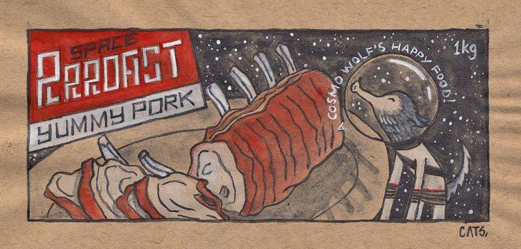 roast pork Erwin... spirit anim - catsac | ello