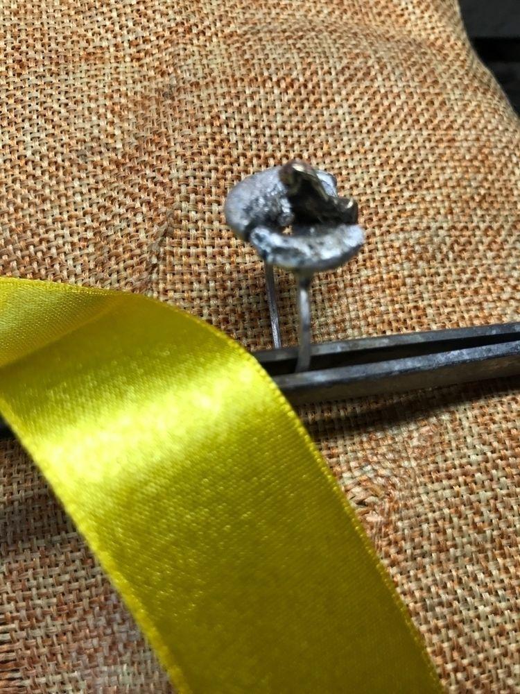 Contemporary ring. Silver brass - mariaelen   ello