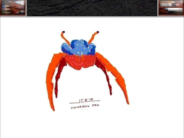 'Crab' (2018) quick drawing beg - leapingbluehare | ello