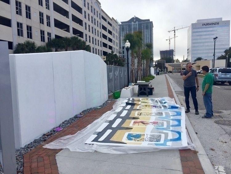 downtown Orlando Dec 30 install - she-d | ello