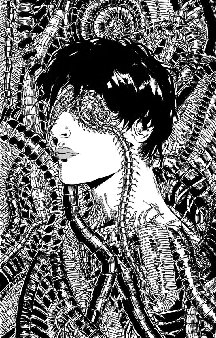 Myriapoda - illustration, inktober - coniaii | ello