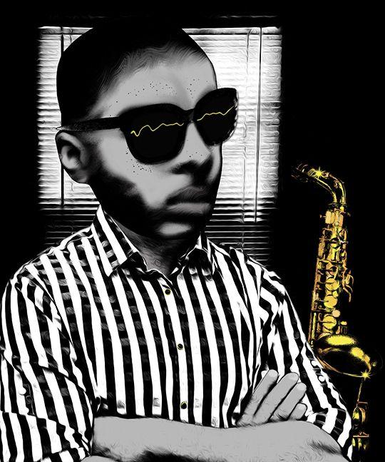 Title Saxo Medium collage digit - pariseau   ello
