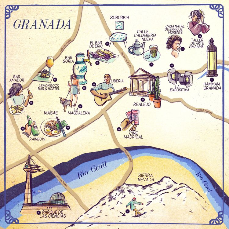 January issue Full view - Map, Granada - mariacastellosolbes | ello