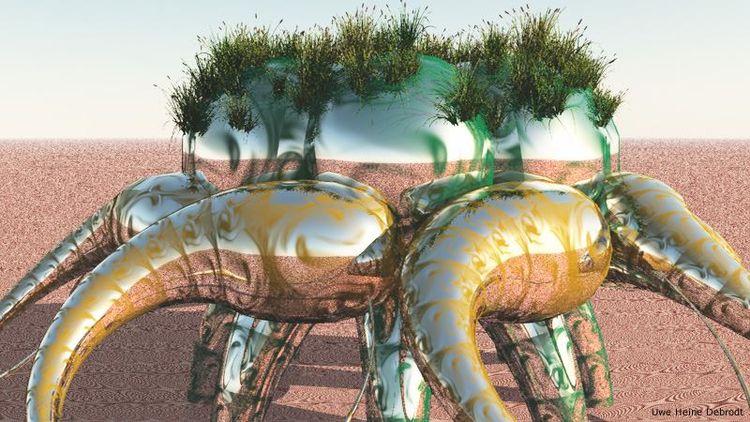 Organic structures worlds - 3D, art - uweheine   ello