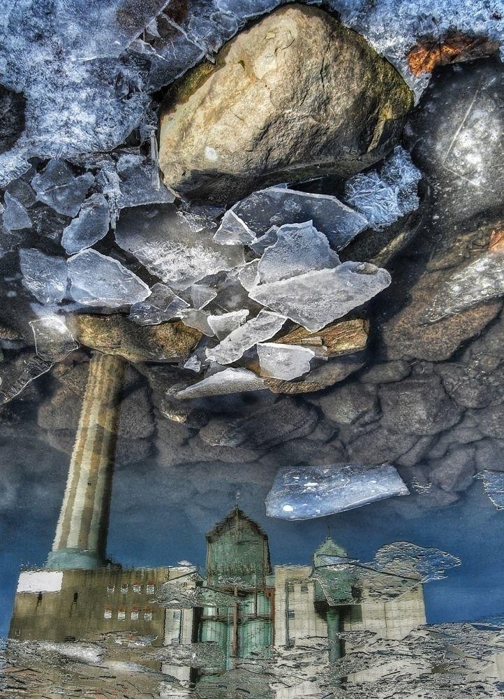 broken sky - water, ice, stones - gif-t-s   ello