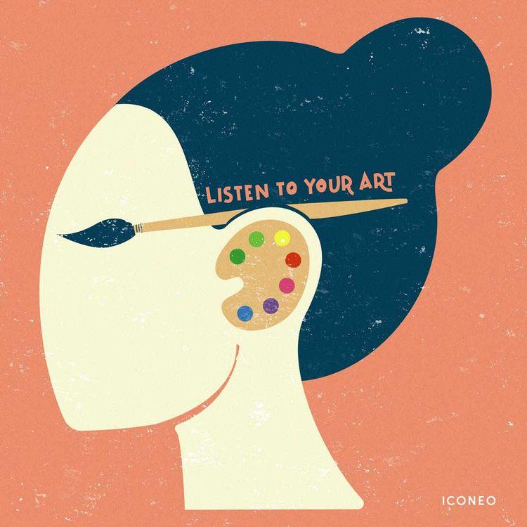 Listen ar - art, iconeo, artwork - iconeo   ello