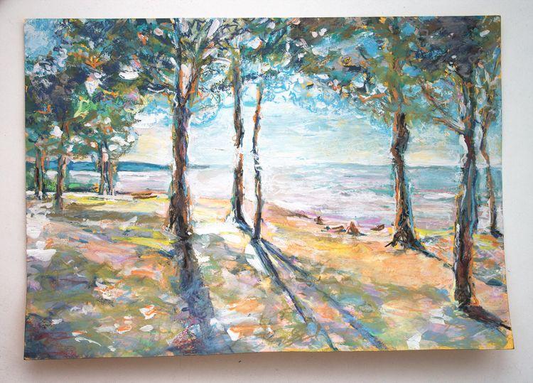 pines (Gulf Finland - art, drawing - nekotangerine | ello