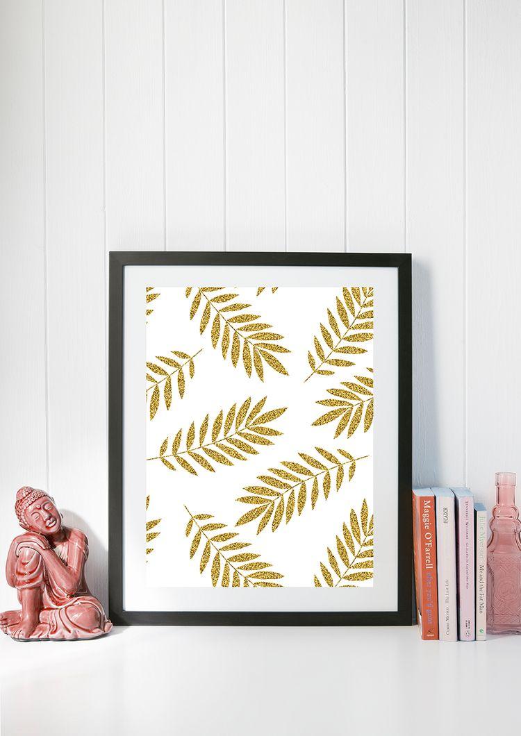 'Golden Leaves' Art Print image - creativeaxle | ello