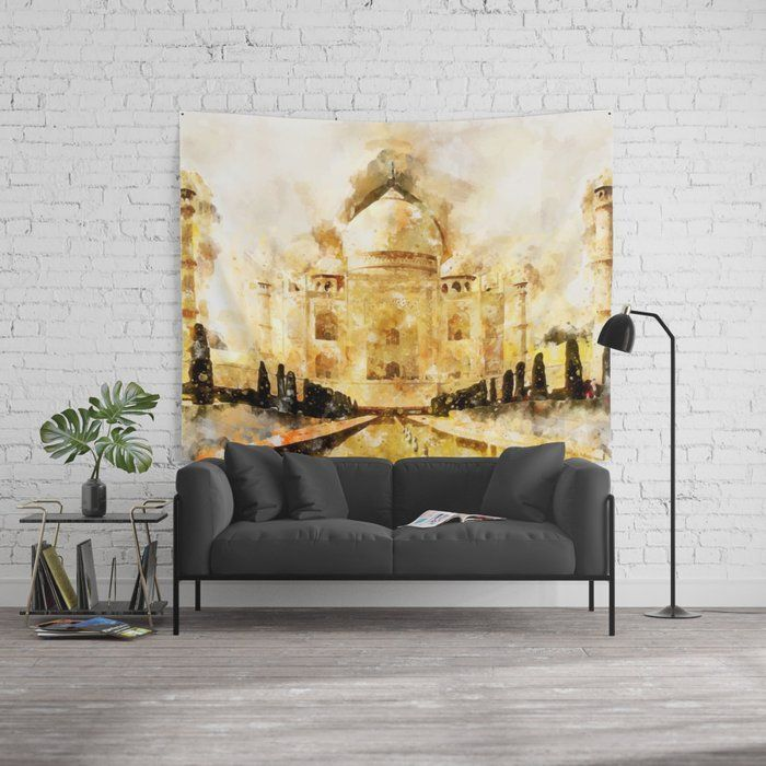 Taj Mahal Painting Effects Wall - creativeaxle | ello