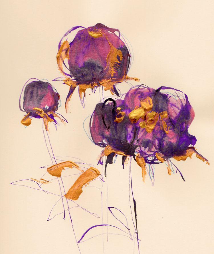 Peonies Blooming process inks v - michellepam   ello