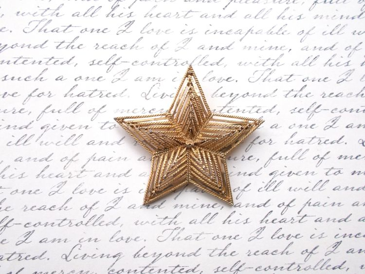 Large Goldtone Star Rope Detail - theresa-marchione | ello