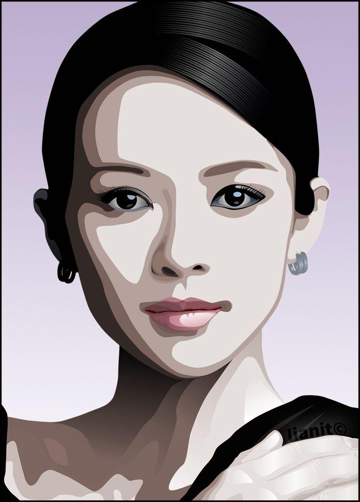 zhangziyi, adobeillustrator, digitalart - lianit | ello