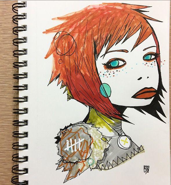 morning ink - art, drawing, girl - aaronkraten | ello