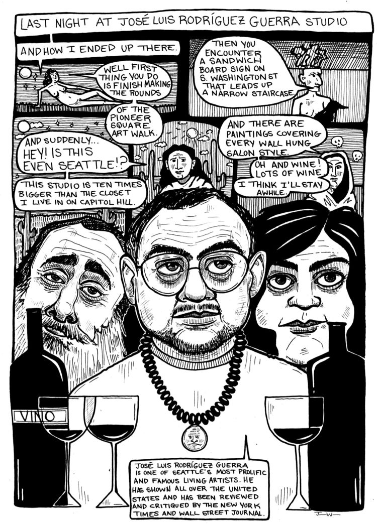 comic documenting Seattle art s - juliawald | ello