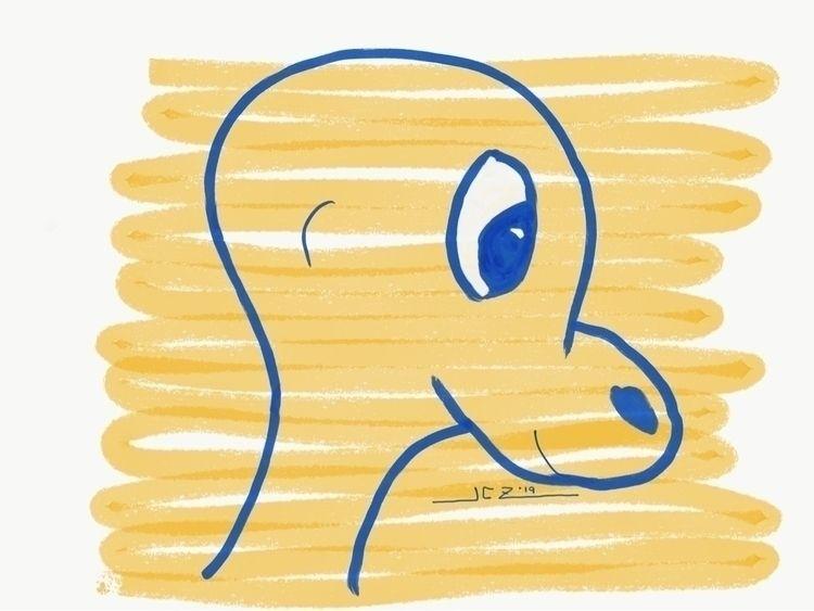 'Friendly' (2019) Doodle Adobe  - leapingbluehare | ello
