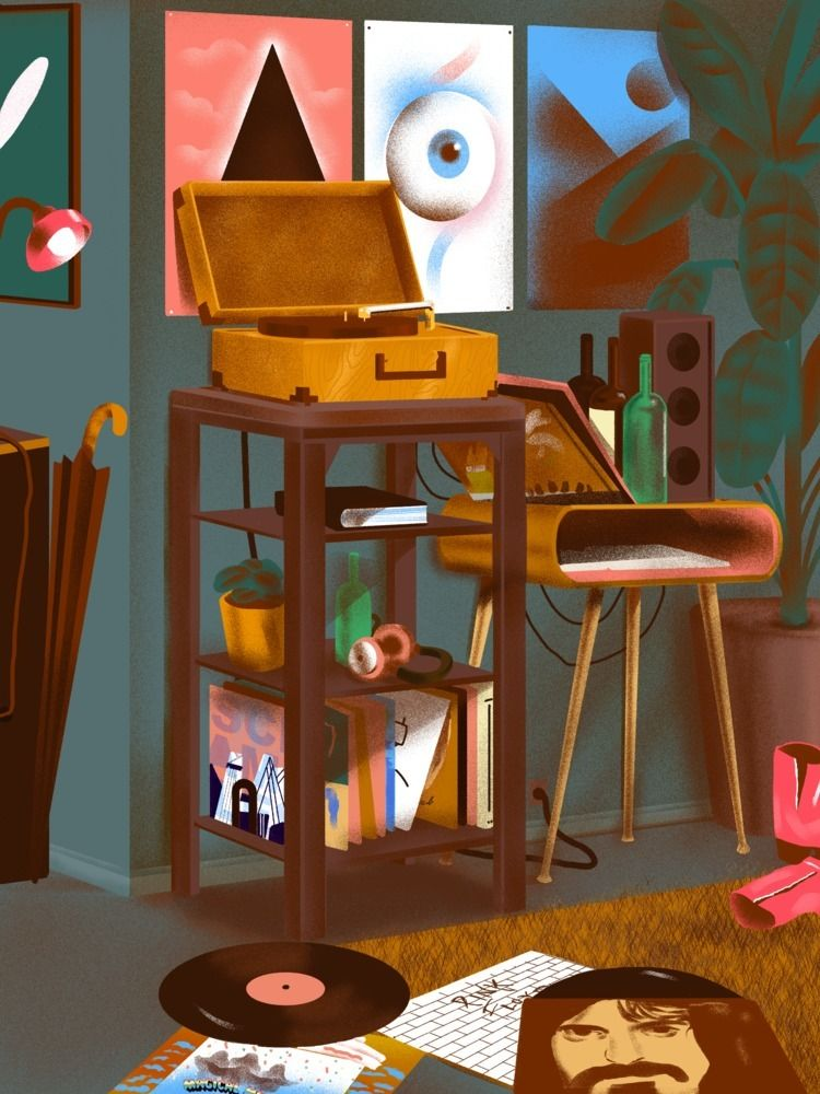 illustration, illustrator, pink - richardachance | ello