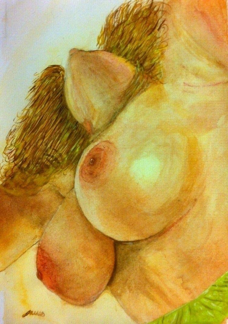 top: Watercolour paper - nude, lifepainting - jameslcable | ello