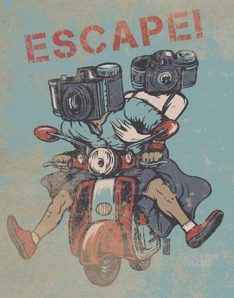Escape - illustration - thomcat23 | ello