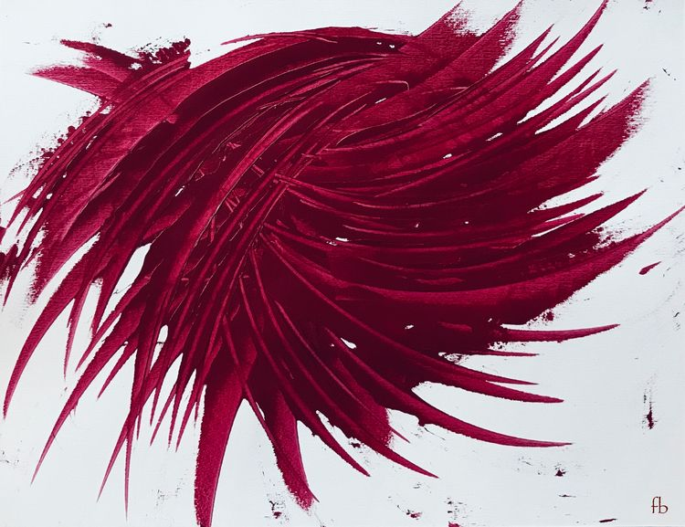 theblackdahlia, crimsom, acrylicpainting - florencebarre | ello
