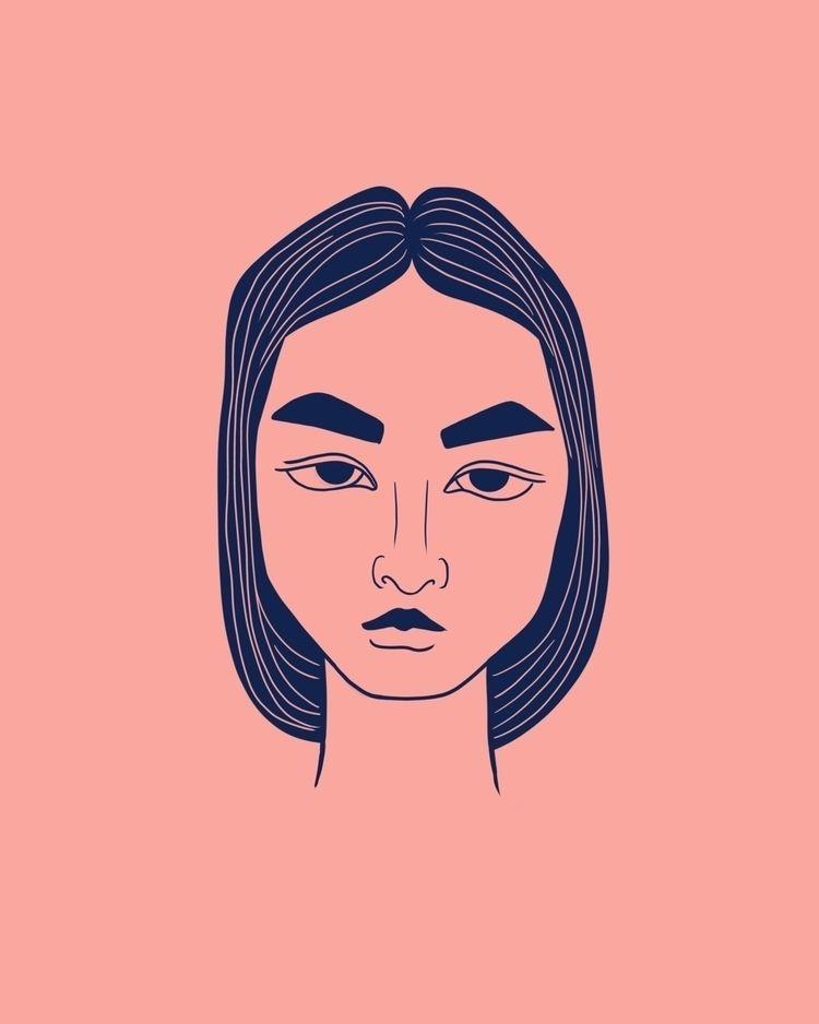 amused - portrait, procreate, minimalist - terastar | ello