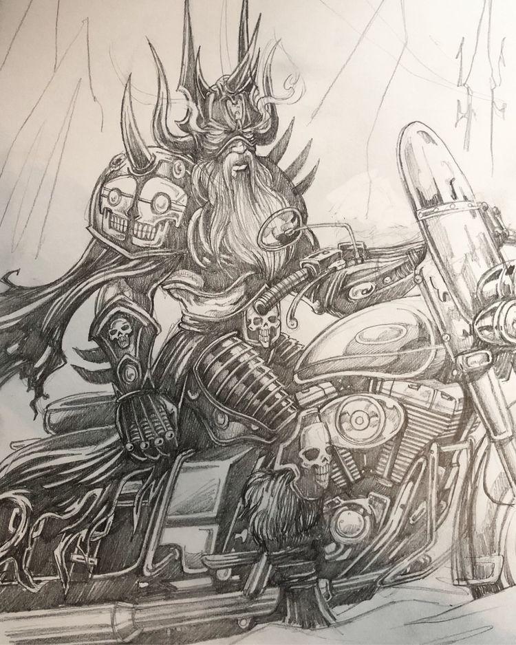 fantasy art sketching project w - spzero76   ello