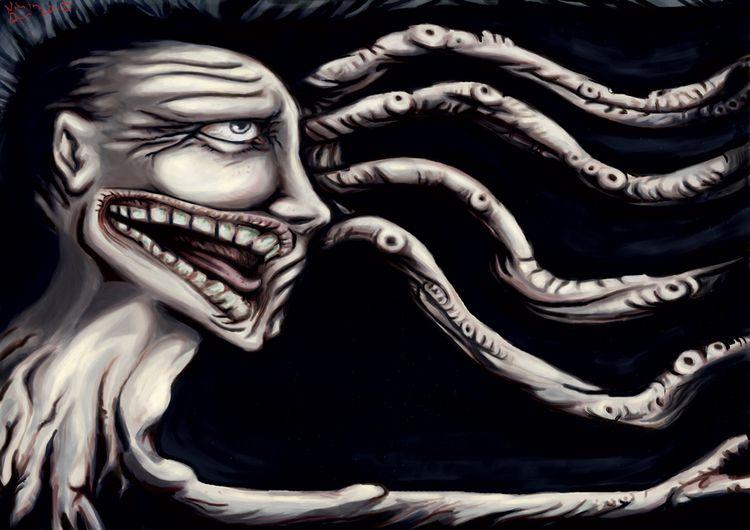 face discord - art, macabre, horror - nikita_r | ello