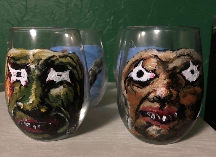 wineglasses, glasspainting, wine - oohgee | ello