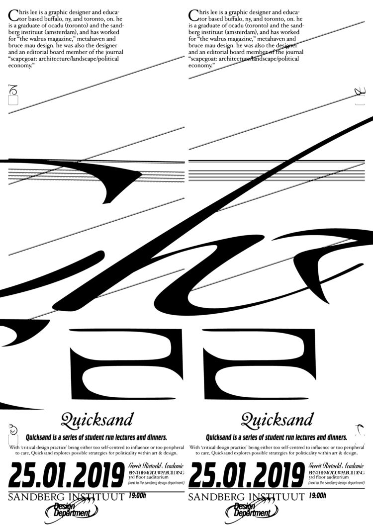 quicksand lecture series - poster - fabiantombers | ello