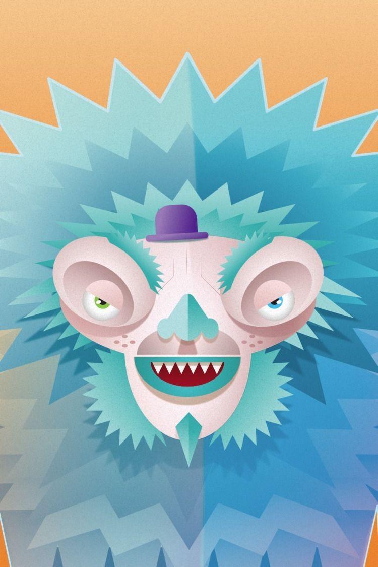 Yeti. CU / detail character des - umanoid | ello