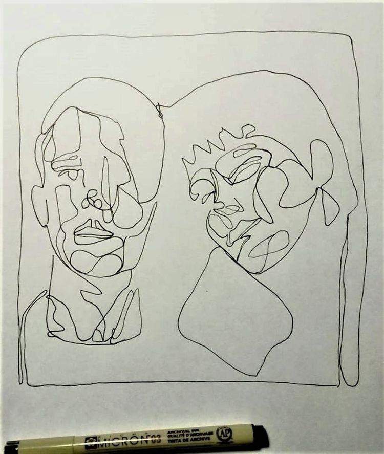 Pen ink portrait - portraits, sketch - allthingsinky | ello