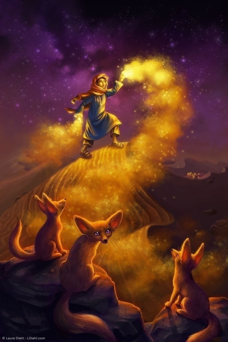 Sand Wizard Moroccan wizard boy - lauradiehl | ello