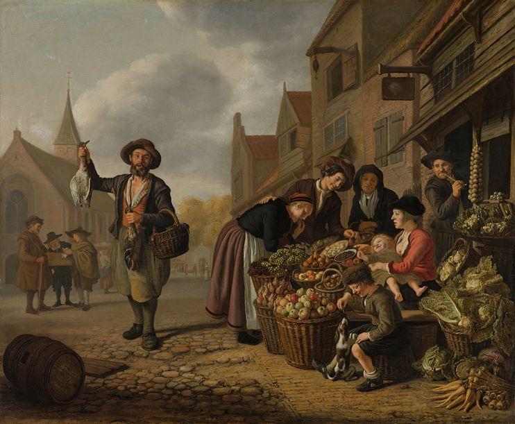 Jan Victors, 1654 Greengrocer)  - fetish3dart | ello