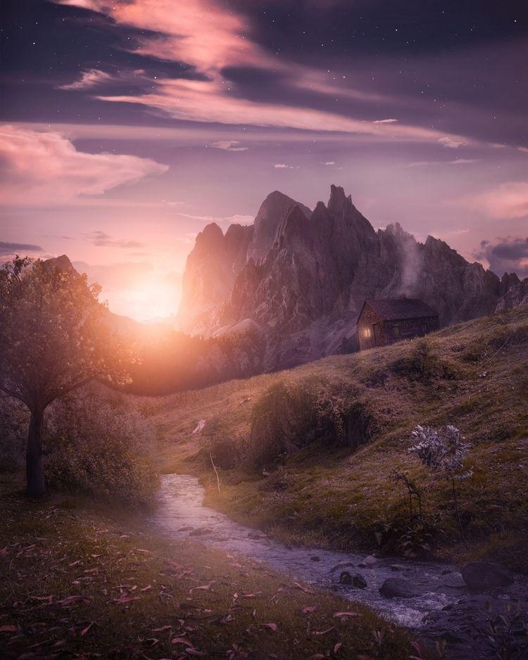 Seeking Serenity - art, sunset, landscape - reimaginates | ello