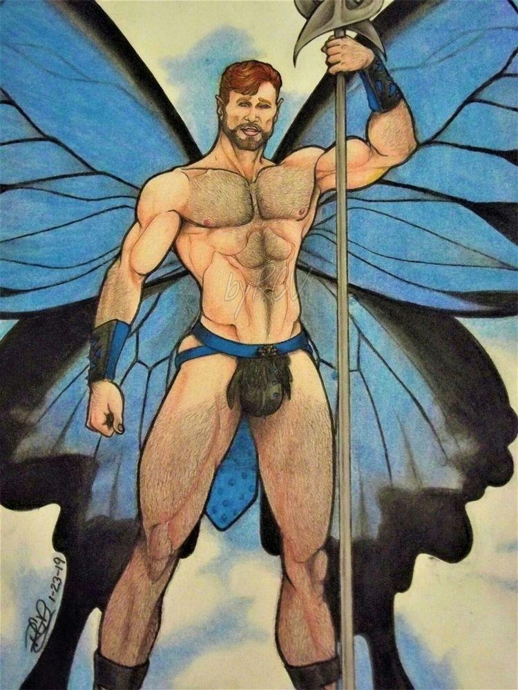 newest warrior fairy drawing am - rafaelc-v | ello