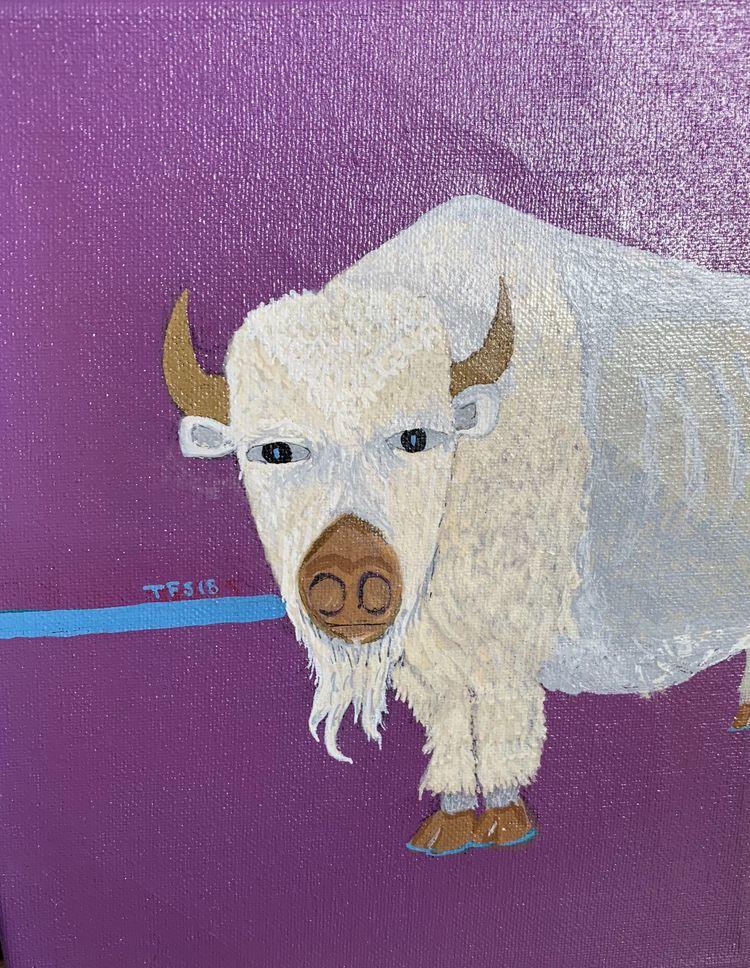 Oklahoma White Buffalo Gouache  - foodart | ello