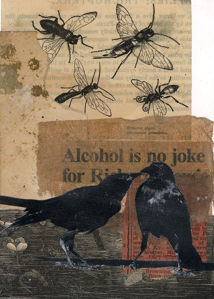 Alcohol Joke 5 7 Paper Collage  - theartofmann | ello