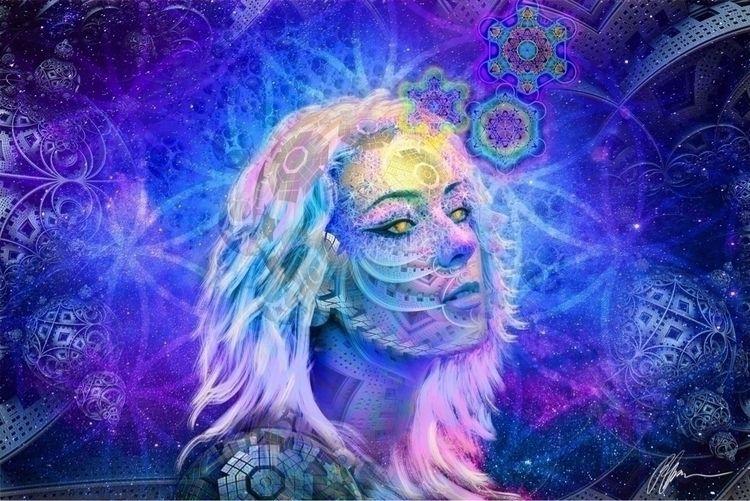 Universal Consciousness  - shrooms - magiteckart | ello