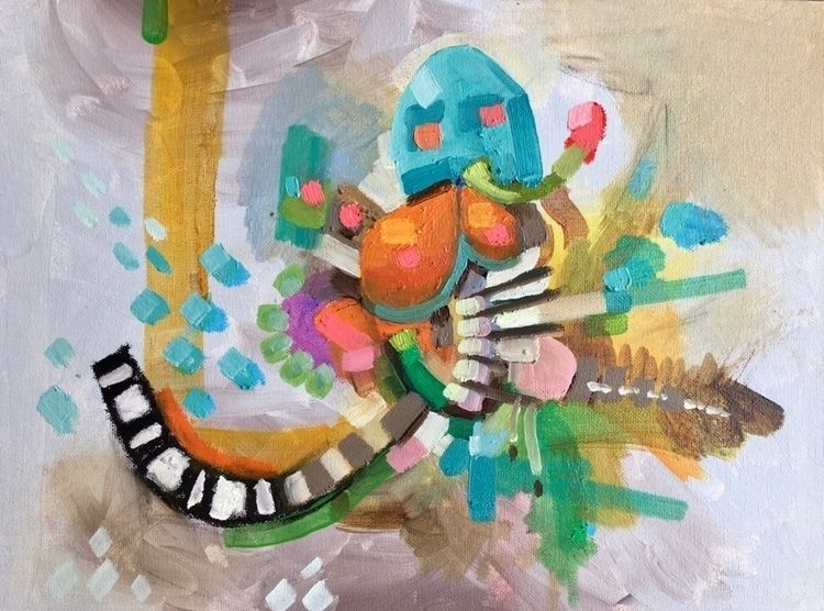 Poor Skeleton - xtc, art, painting - bilchamberlin | ello
